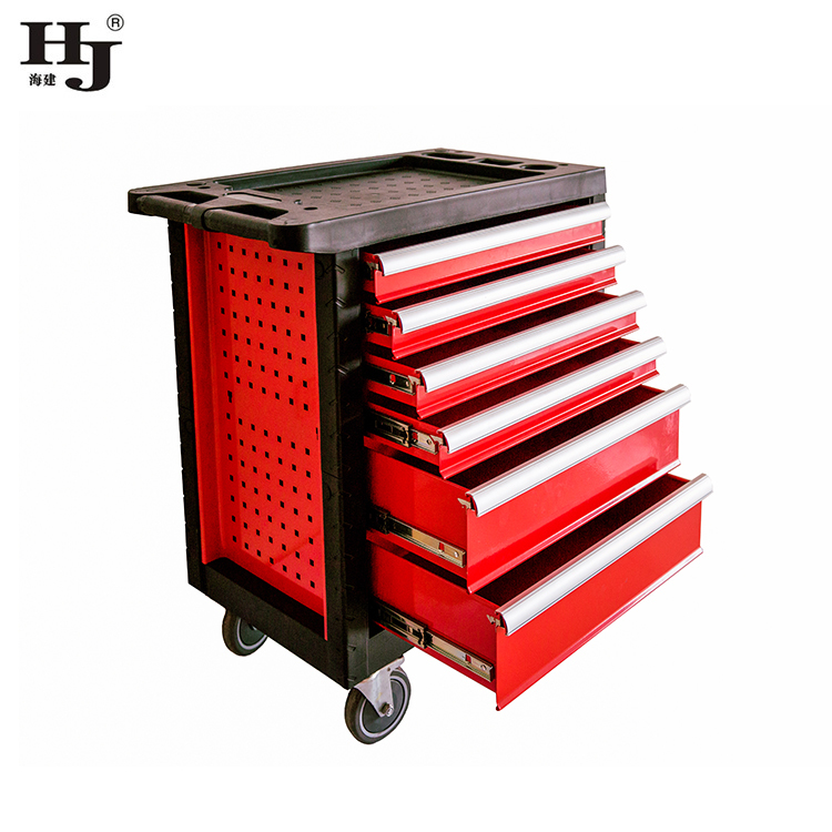 Six Drawers Tool Cabinet On Wheels